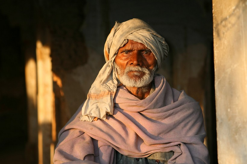 Old man in Varanasi, India