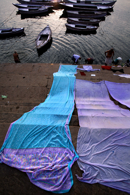 Gowns drying in Varanasi, India