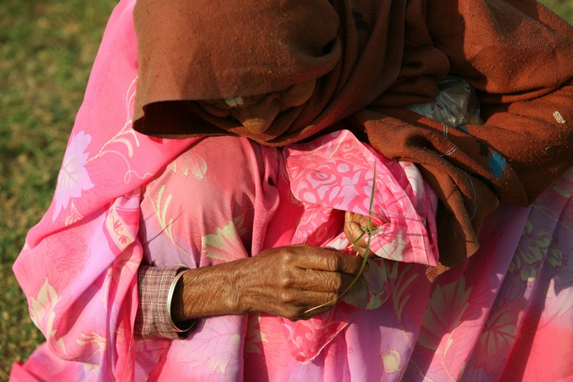Old woman in Jaipur India