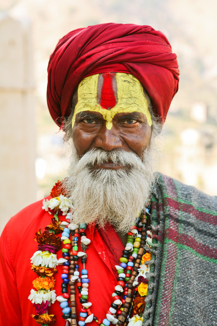Old man in Jaipur India