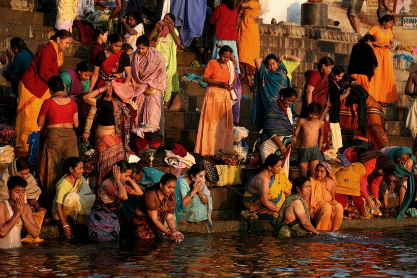 Bathing in the Ganges River, Varanasi