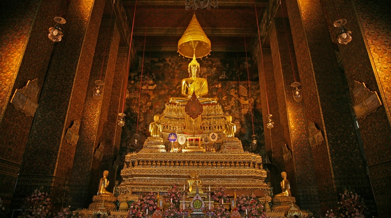 Таиланд, Бангкок. Храм Золотого Будды (Golden Buddha Temple (Wat Trai Mit).